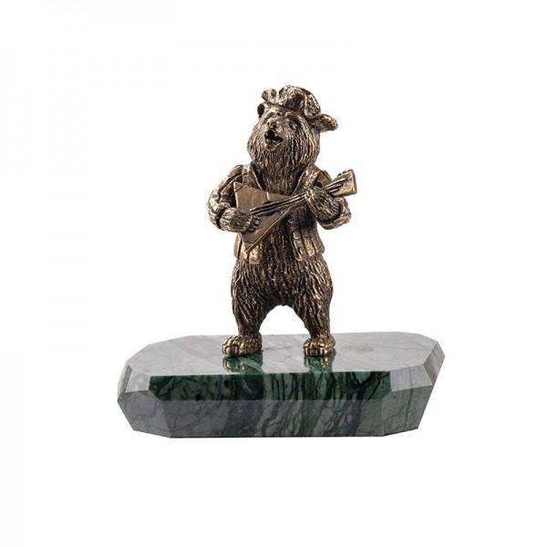 Статуэтка Медведь с балалайкой на камне
