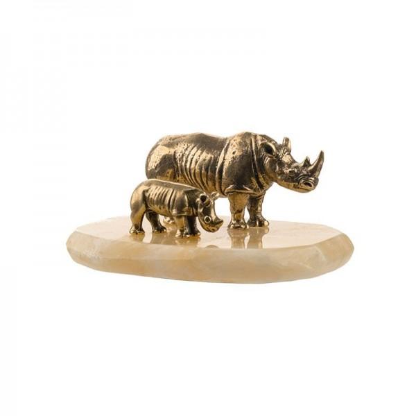 Статуэтка Носорог и носорожек
