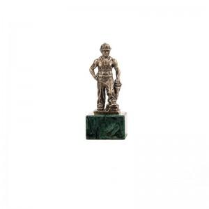 Статуэтка Шахтёр с отбойным молотком на подставке
