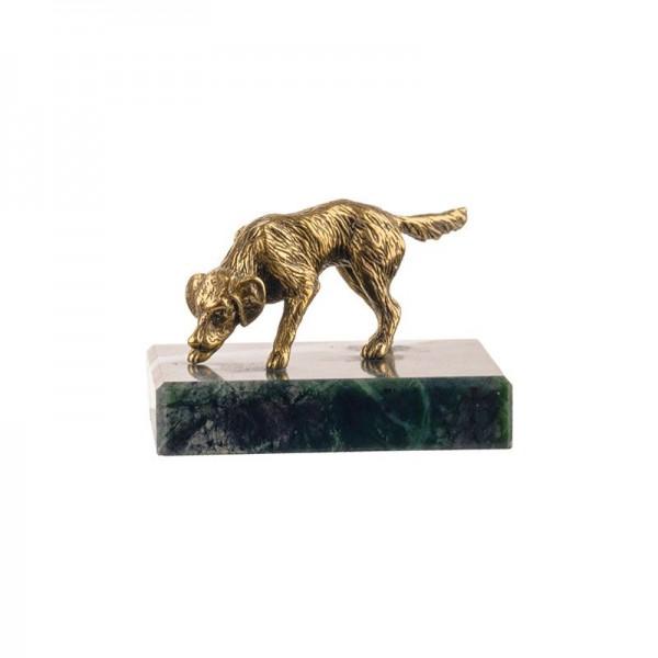 Статуэтка Собака на натуральном камне