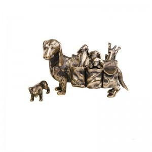 Статуэтка Такса с щенятами