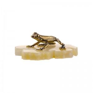 Статуэтка Тропическая лягушка на подставке