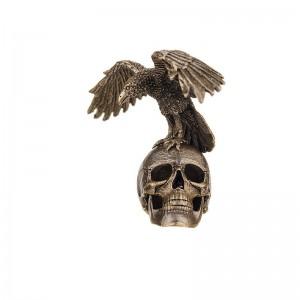 Статуэтка Ворон на черепе