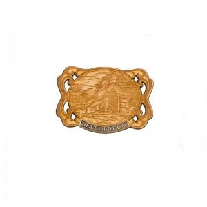 Сувенирный деревянный магнит Пятигорск. Грот Лермонтова