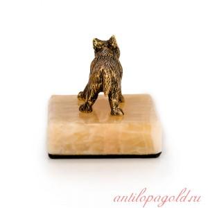 Волчонок стоящий на ониксе